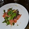 Franschoek cured salmon, raw trout, beetroot, asparagus