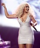 Christina Aguilera performs live on stage at the awards show.