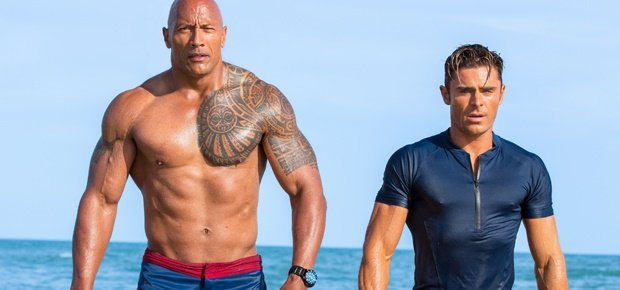 Dwayne Johnson and Zac Efron. (Paramount Pictures)