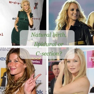 Everyone has a specific way they prefer to give birth, natural birth, epidural or c-section. Take a look at what these celeb moms prefer.