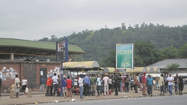Vagrants who used to live in the Ematsheni Beer Hall ran amok in the lower CBD on Thursday, looting shops.