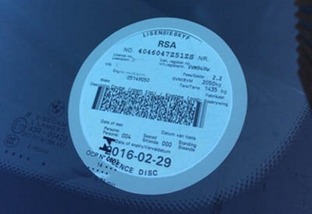 <b>CHECK YOUR DISC:</b> The City of Cape Town asks drivers to act proactively by checking the renewal date on their existing vehicle licence disc. <i>Image: Wheels24</i>