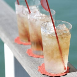 Pimms in ginger syrup