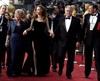 Angelina Jolie, Jane Pitt, left, and William Pitt arrive at the 84th Academy Awards in Los Angeles. (Matt Sayles, AP)