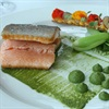 Christo's Lourensfor trout with watercress cream, buttered pak choi and nasturiums. R155
