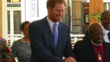 WATCH: Prince Harry honours Tutu with prestige service award