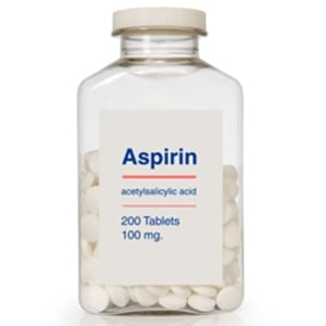 bottle of aspirin