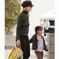 Actress, Meg Ryan drops daughter, Daisy off for her first day at school.