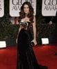 Salma Hayek dressed appropriately in this gold and black stunner.