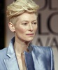 Tilda Swinton looking funky and fun for a change...