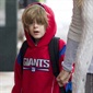 Perhaps if Sarah Jessica Parker and Matthew Broderick's son, James Wilke, had brought a hat to school, he wouldn't have had to rely on his sweatshirt hood to stay warm.
