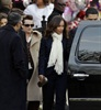 Singer Alicia Keys leaves after a funeral service for Whitney Houston at New Hope Baptist Church in Newark. (Mel Evans, AP)