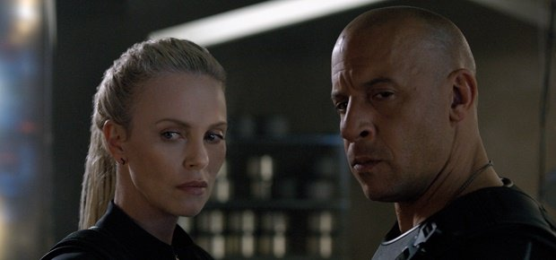 Charlize Theron and Vin Diesel in The Fate of the Furious. (Universal)