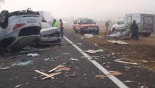 WATCH: Heavy mist causes 65 car pile-up on N12