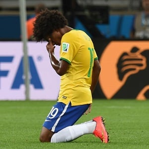 Willian in tears over Brazil humiliation (AFP)