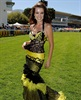Afrikaans singer Nadine in an audacious outfit in the sweltering heat.