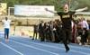 Prince Harry beats Usain Bolt on the track with the help of a false start.