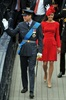 Kate almost steals the show in ravishing red. (Photo: John Stillwell, AP)