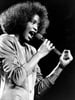 Whitney Houston performs during her segment of a benefit concert at Boston Garden on May 10, 1986.