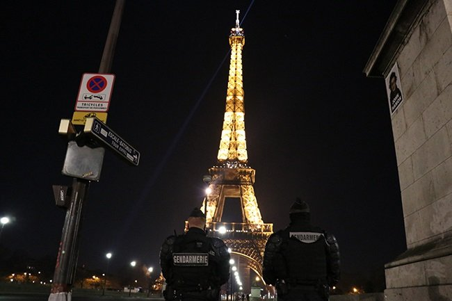 PARIS, FRANCE - JANUARY 01: The illuminated Eiffel