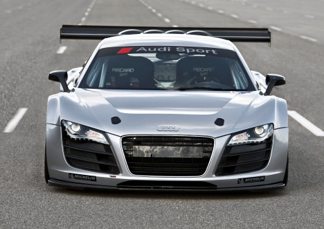 This is Audi's GT3 racing spec R8. It's rear-wheel