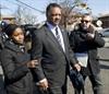 Reverend Jesse Jackson arrives at Whitney Houston's funeral.  (Don Emmert, AFP)