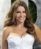<I>Modern Family</i>'s Sofia Vergara wows in white at the Vanity Fair Oscars after party.