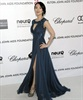 Ziyi Zhang looks regal in stunning navy.