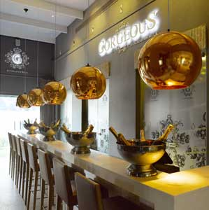 Gorgeous bubbly bar