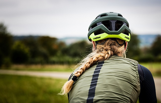 An aerodynamic cycling helmet that is comfortable, even for riders with long hair. (Photo: Lazer)