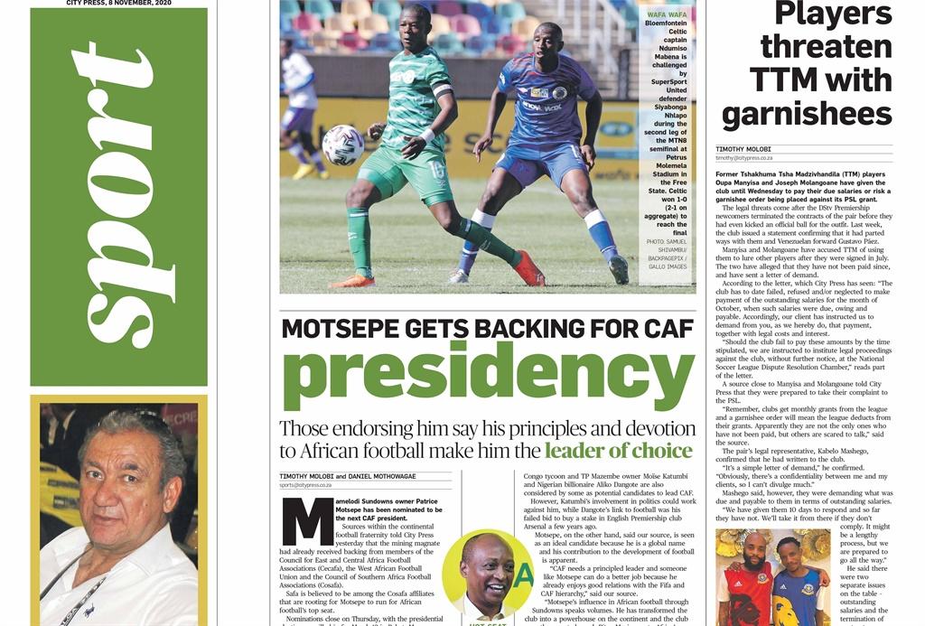 City Press Sport   November 8 2020