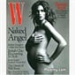 Cindy Crawford posed while 7 months pregnant for W Magazine in 1999.