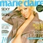 Christina Aguilera on the cover of the January 2008 Marie Claire, pregnant with son Max.