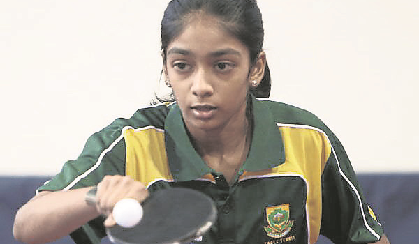 Pietermaritzburg Girls' High School Grade 8 pupil Kiara Naidoo is ecstatic about her trip to Fiji later this year to represent the African team to play at the World Table Tennis Cadet Challenge.