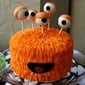 This cake will make a great centre piece for a Monster themed birthday party.