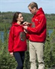 Wills and Kate were presented with red hockey jerseys on their tour of Canada in July 2011.
