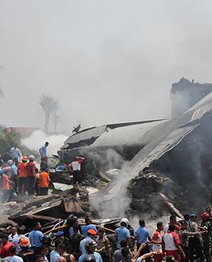 Indonesian military plane crash. (File, AFP)