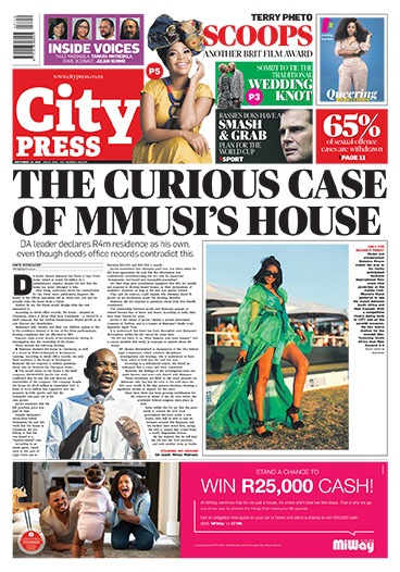 City Press front page: September 15 2019
