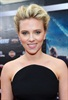 Scarlett stuck to her character's style and wore black to the event.