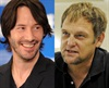 Eternally youthful Keanu Reeves looks young enough to date any one of Steve Hofmeyr's kids, despite the two being the same age.