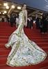 Actress Fan Bing Bing shows off her gorgeous dress.