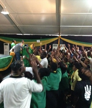 ANC supporters singing Pro-David Mabuza songs at the start of the Mpumalanga ANC elective conference. Picture: Mandla Khoza