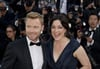 Former Boyzone singer Ronan Keating and actress Laura Michelle Kelly arrive for the screening of Killing Them Softly.