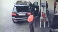 WATCH: Alleged armed robbery at petrol station caught on camera