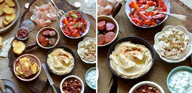 recipe, tapas, dips, chorizo, cheese, summer, holi