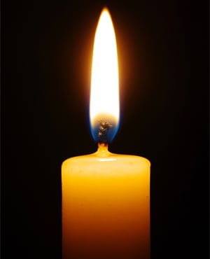 Candle photo from Shutterstock