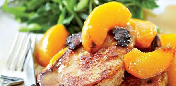recipe, chops, pork, peaches,dinner