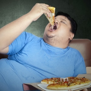 lazy man on couch heading towards diabetes