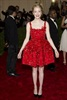 The <Amazing Spiderman</em> actress looked like a dream in this cute red dress. (Photo: Charles Sykes, AP)