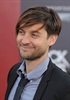 Tobey Maguire brought his bangs along to the red carpet event.
